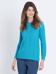 W.Lane Button Textured Knit