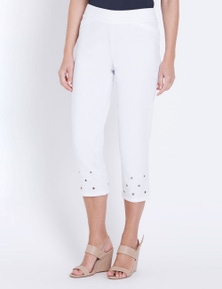 W.Lane Eyelet Trim Detail Crop Pant
