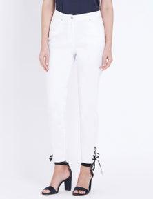W.Lane Contrast Trim Ankle Jean
