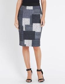W.Lane Patchwork Skirt