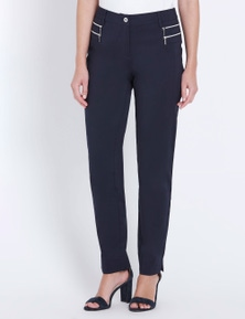 W.Lane Zip Trim Detail Full Length Pant
