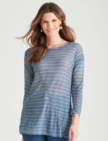 W.Lane Printed Spliced Knit
