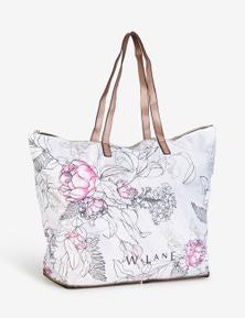 W.Lane Fold Up Floral Print Bag