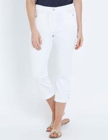 W.Lane Side Button Crop Pant