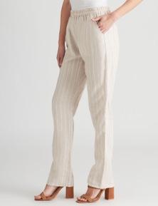 W.Lane Stripe FL Linen Pant
