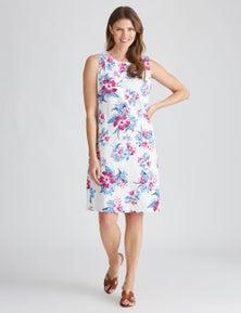 W.Lane Floral Linen Dress