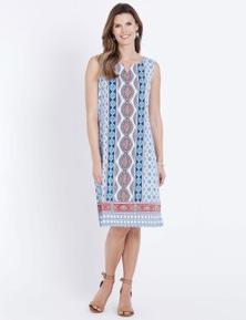 W.Lane Placement Print  Dress