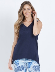 W.Lane Embroidered Detail Top
