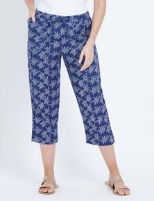 W.Lane Swirl Print Linen Crop Pant