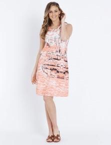 W.Lane Cowl Neck Scenic Dress