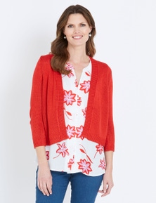 W.Lane Textured Knit Cardigan