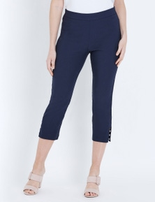 W.Lane Diamonte Trim Crop Pant