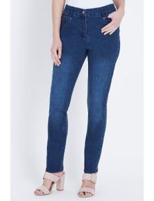 W.Lane Stitch Detail Ankle Jean