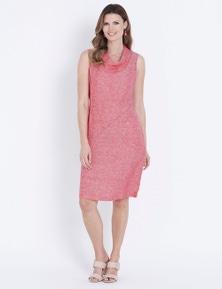 W.Lane Cowl Pocket Linen Dress