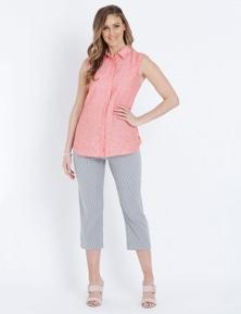W.Lane Stripe Crop Pant