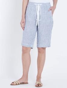 W.Lane Stripe Linen Short