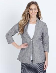 W.Lane Drape Linen Button Jacket