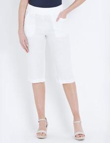 W.Lane Capri Linen Pant