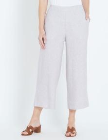 W.Lane Linen Culotte Crop Pant
