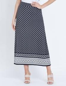 W.Lane Tile Print Maxi Skirt