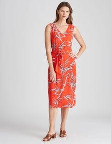 W.Lane Bamboo Print Wrap Dress