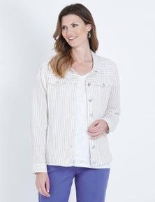 W.Lane Stripe Linen Jacket