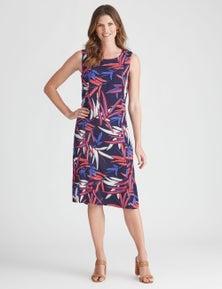 W.Lane Stripe Floral Print Dress