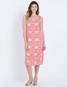 W.Lane Tile Print Frill Hem Dress