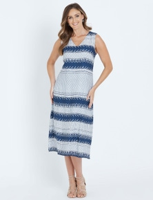 W.Lane Geo Print Maxi Dress