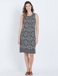 W.Lane Constrast Print Dress