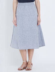 W.Lane Rib Linen Skirt