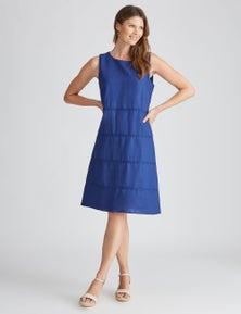 W.Lane Braid Trim Linen Dress
