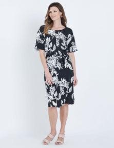 W.Lane Floral Print Tie Dress
