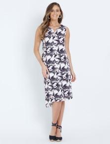 W.Lane Notch Floral Dress