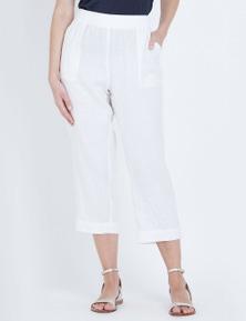 W.Lane Rib Linen Crop Pant
