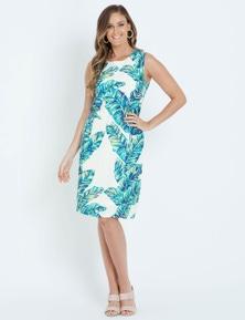 W.Lane Floral Placement Print Dress