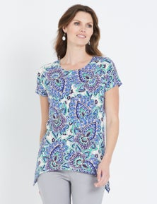 W.Lane Abstract Floral Top