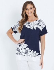 W.Lane Floral Placement Pullover