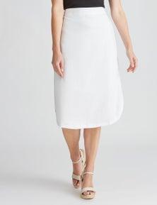 W.Lane Linen Skirt