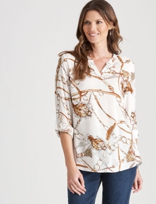 W.Lane Chain Print Blouse