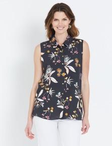 W.Lane Floral Sleeveless Shirt