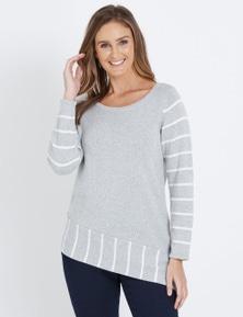 W.Lane Spliced Stripe Pullover