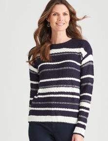 W.Lane Chunky Stripe Knit