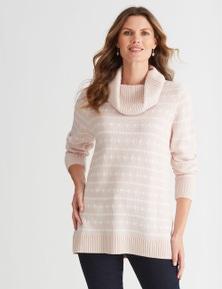 W.Lane Textured Cowl Knit
