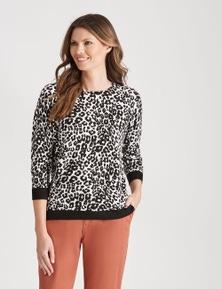 W.Lane Animal Printed Pullover