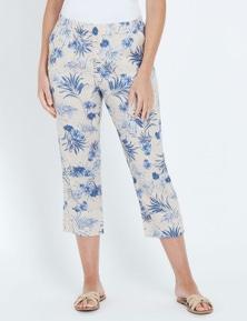 W.Lane Floral Printed Button Crop Pant