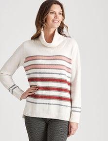 W.Lane Stripe Cowl Pullover