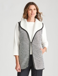 W.Lane Textured Faux Fur Vest