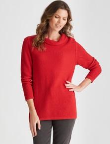 W.Lane Textured Roll Neck Pullover