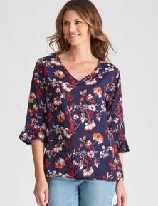 W.Lane Floral Woven Tunic